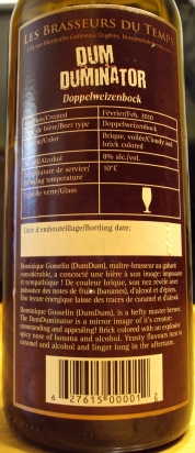 DumDuminator (Fût De Cognac) Les Brasseurs Du Temps img4 - craftbeerquebec.ca