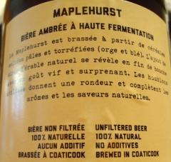Maplehurst - Microbrasserie Coaticook 3 via craftbeerquebec.ca