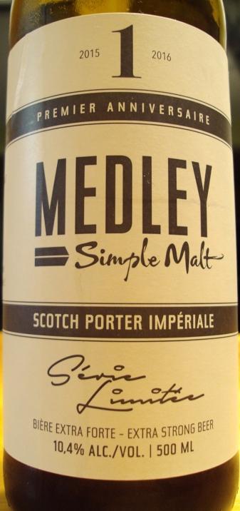 Simple Malt 1er Anniversaire Scotch Porter Impériale Brasseurs Illimités craftbeerquebec.ca 1
