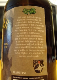La Bunkers IPA - Refuge Des Brasseurs - Brasseurs Du Monde 3 craftbeerquebec.ca
