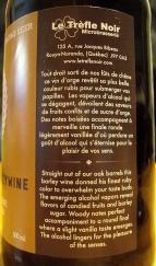 Vin d'orge Édition Limitée viellie en fut de chene - Microbrasserie Le Trefle Noir 4