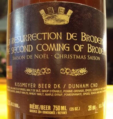 ressurection de broderus saison de noel brasserie dunham craftbeerquebec.ca