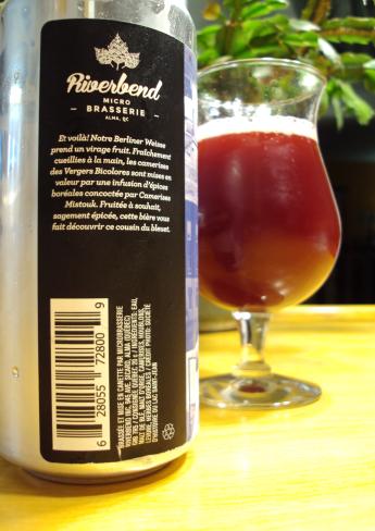 berliner weisse camerises herbes boreale microbrasserie riverbend craftbeerquebec.ca biere artisanale quebec sidecan